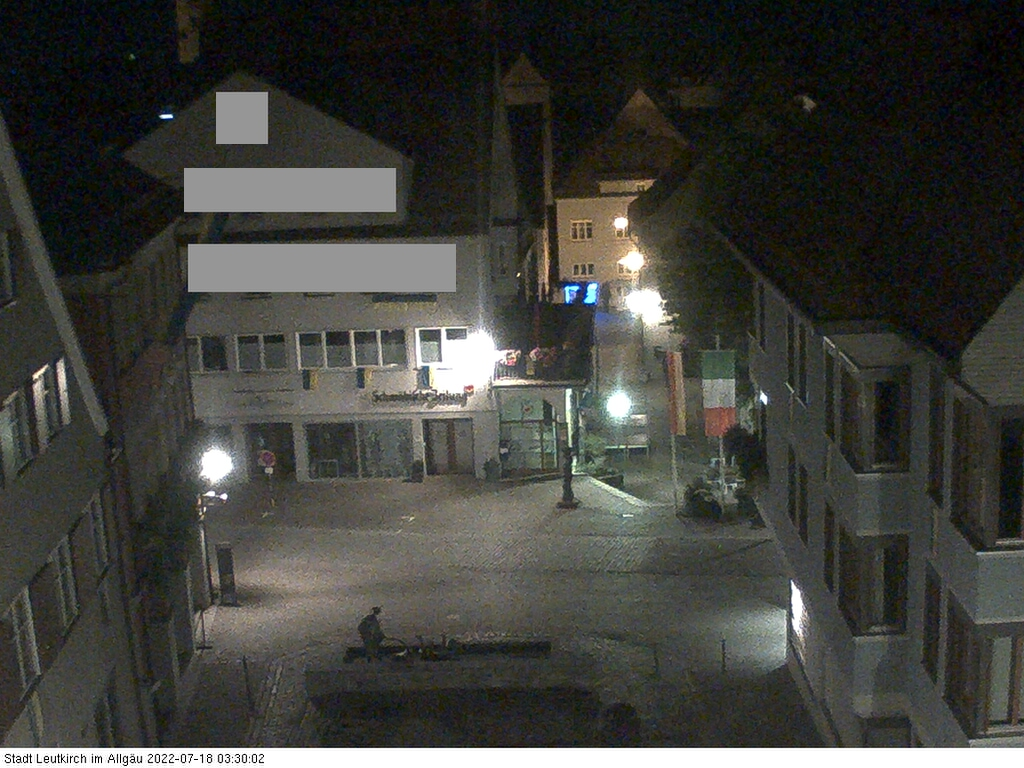 Webcam Leutkirch - Blick vom Rathaus Leutkirch zum Kornhausplatz