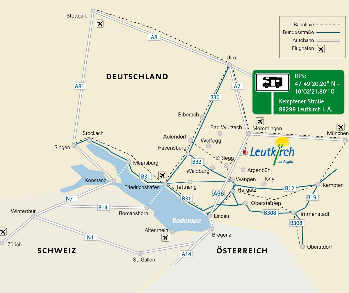 Anfahrtsplan Leutkirch