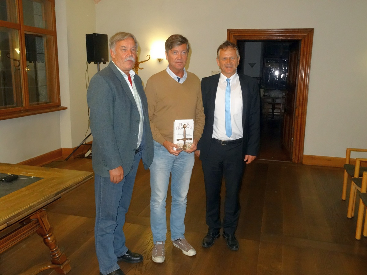Imre Török, Peter Prange und Oberbürgermeister Hans-Jörg Henle