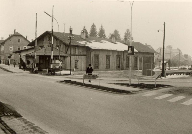Lokschuppen Ecke Wangener-/Poststraße 1963
