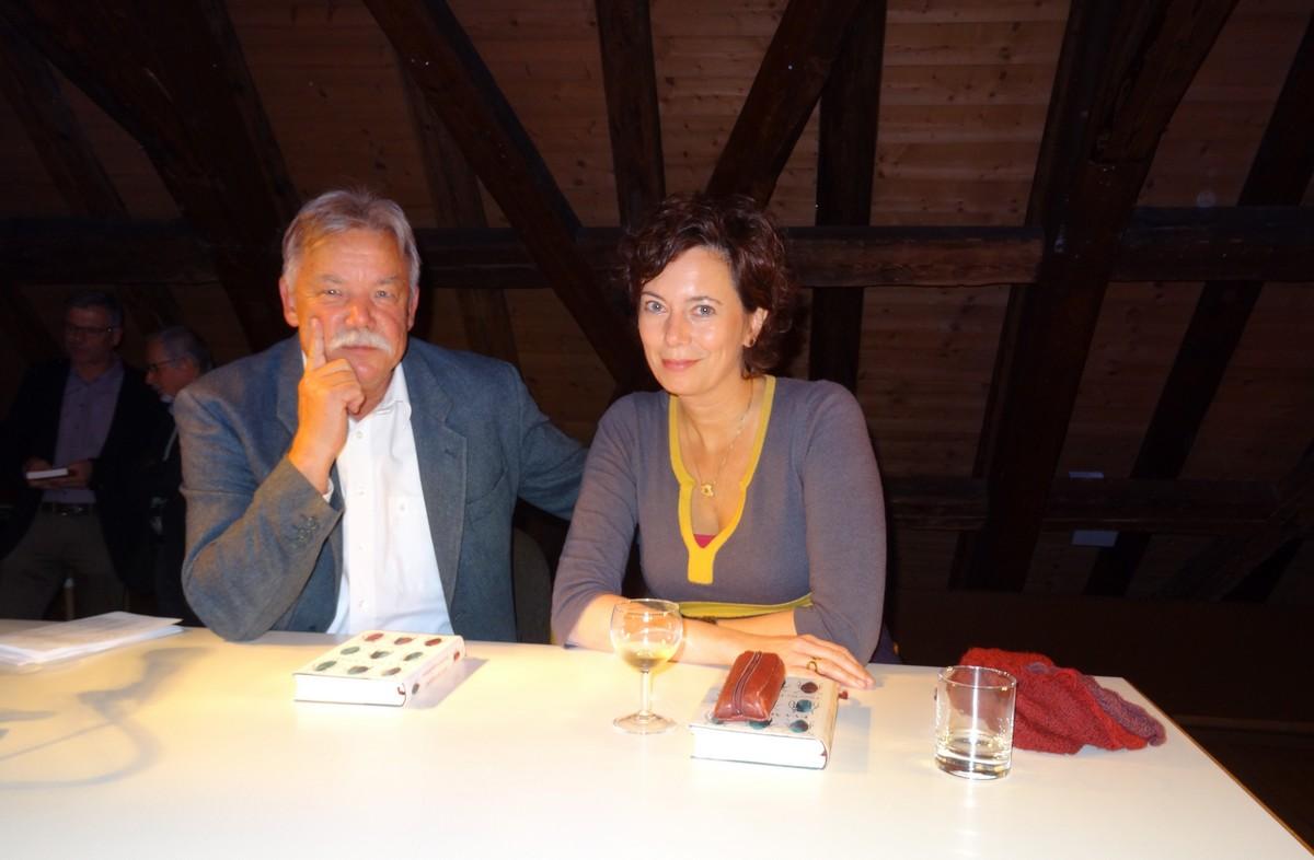 Imre Török und Eva Menasse nach der Lesung (177 KB)
