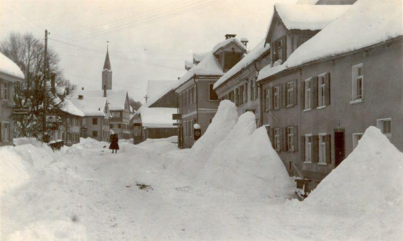 Memminger Straße im Winter 1931