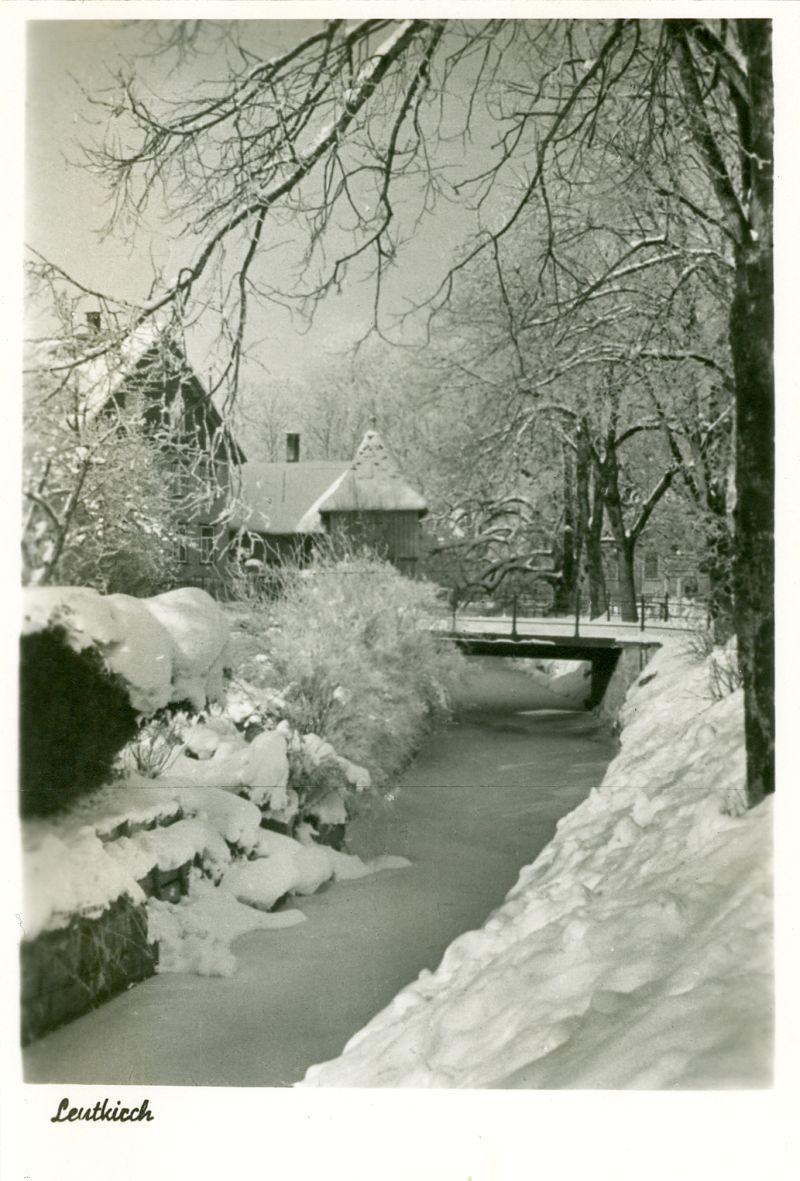 Partie an der Eschach im Winter