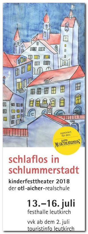 Plakat Kinderfest-Theater 2018: Schlaflos in Schlummerstadt