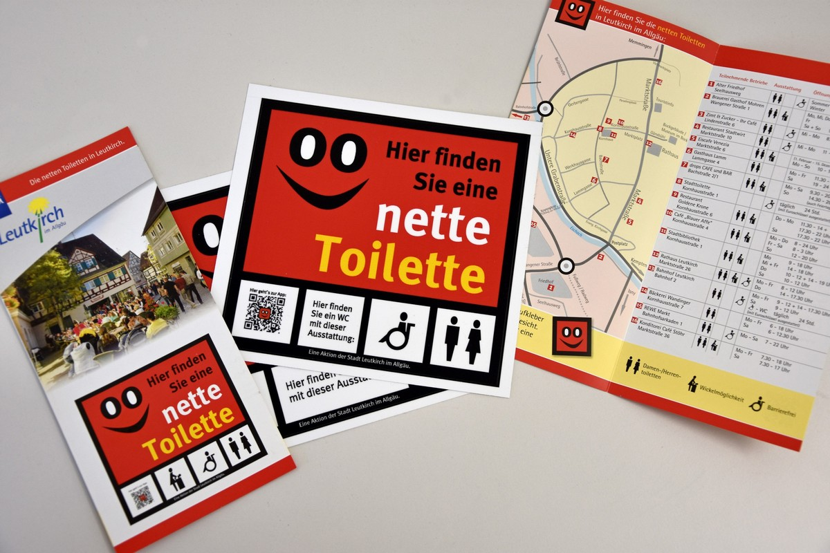 "Informationsmaterial zur ""Netten Toilette"" in Leutkirch"