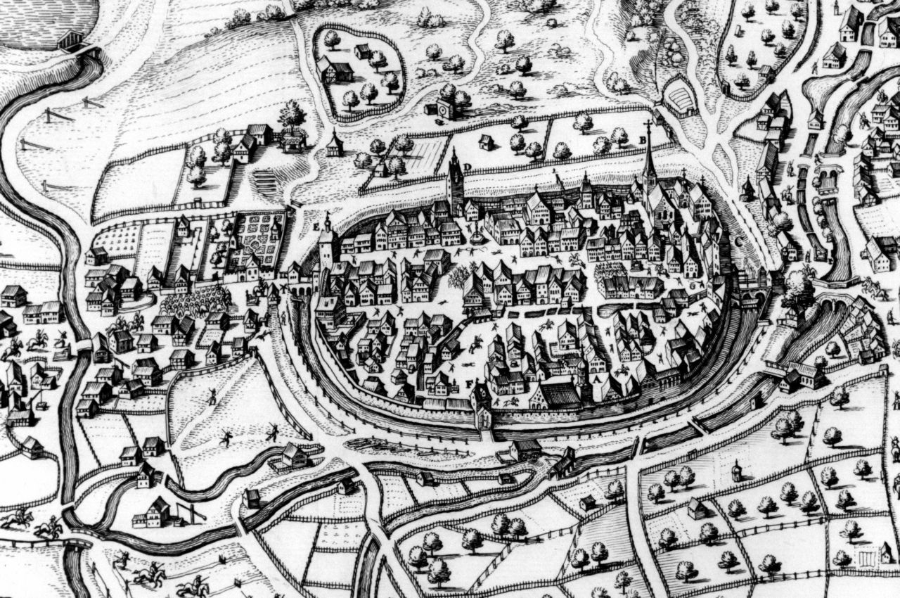 Stadtansicht von Matthäus Merian aus dem Jahr 1643