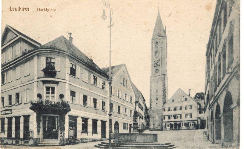Gänsbühl mit Handelshaus Schaal und Bockturm um 1918