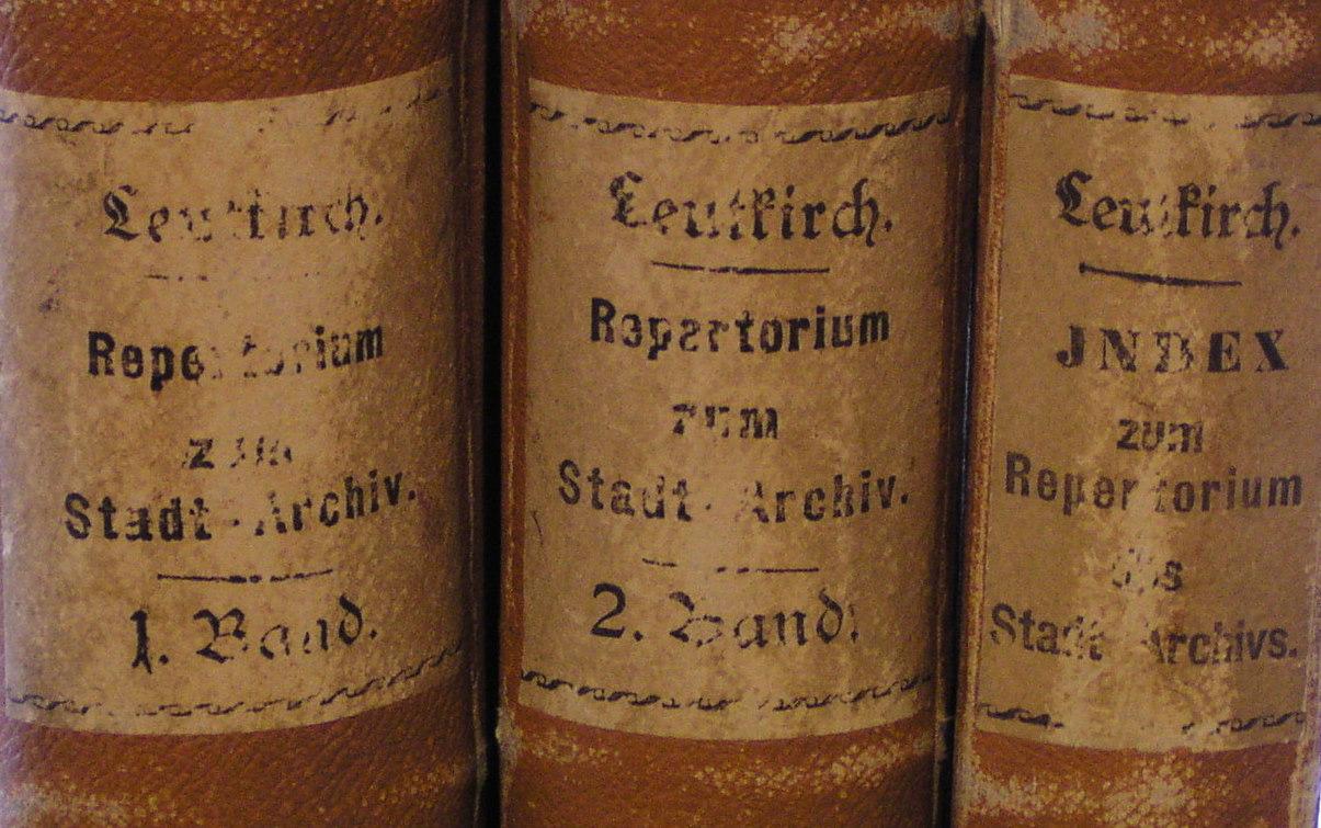 Findbücher des Stadtarchivs von 1830