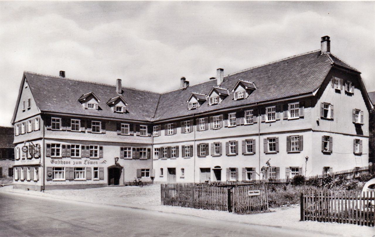 Gasthaus Löwen in der Memmingerstrasse 1953
