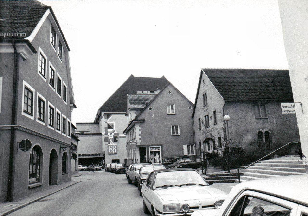 Evangelische Kirchgasse um 1980