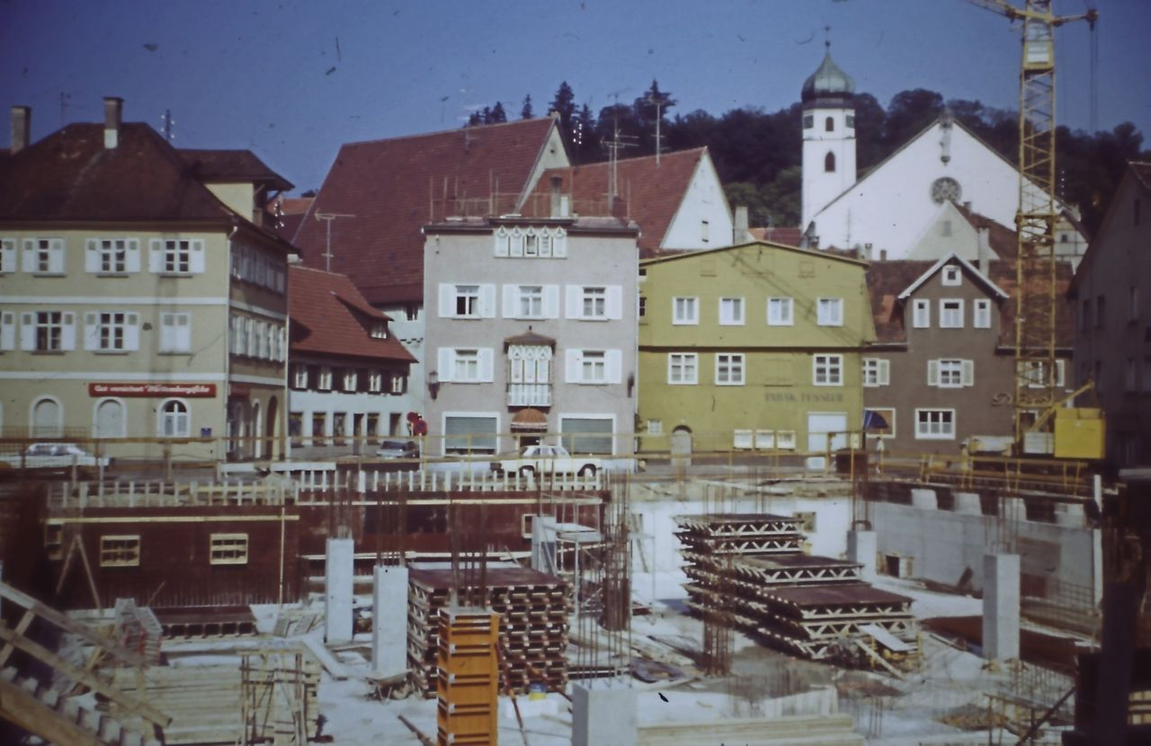 Baustelle Kaufhaus Bolkart 1972