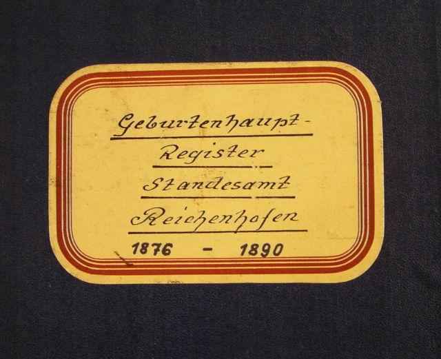 Geburtsregister Reichenhofen