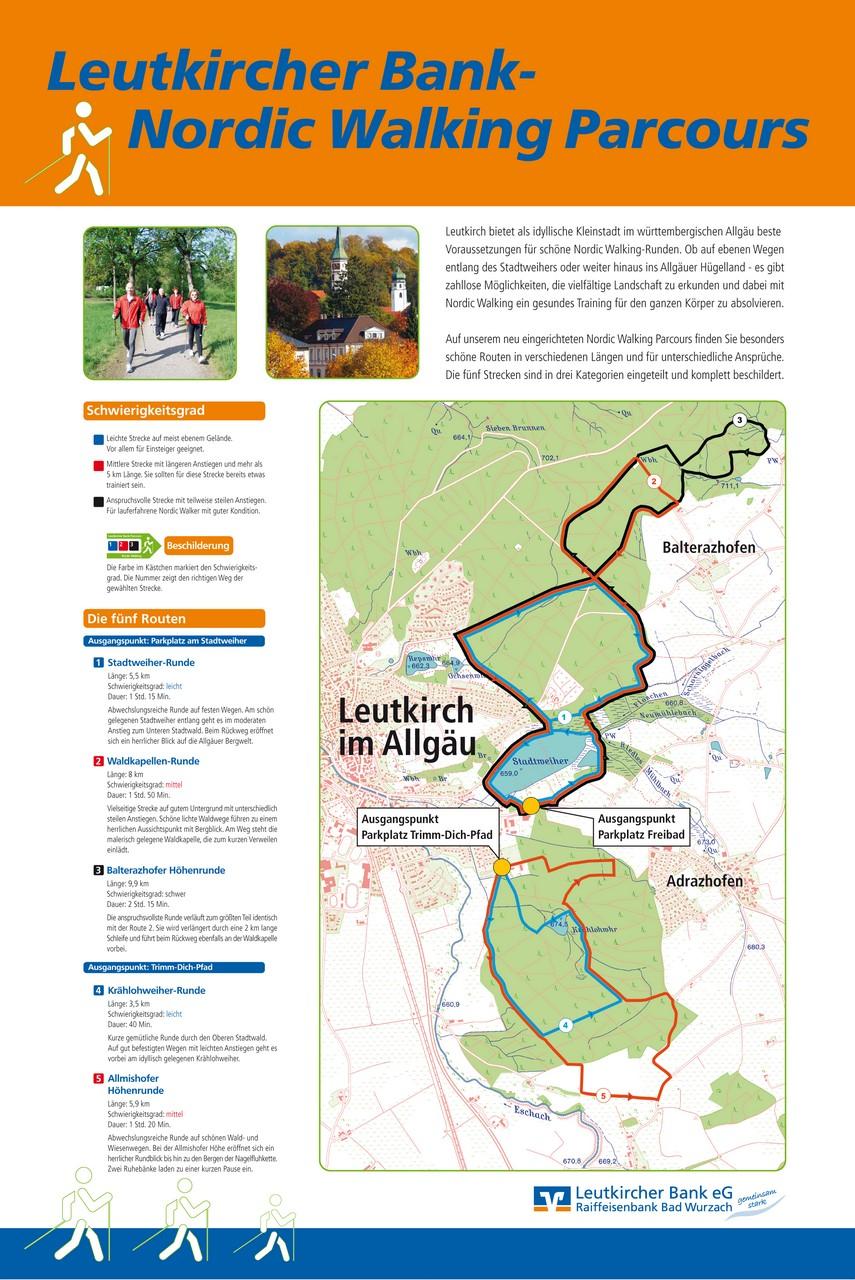 Schild Nordic-Walking-Parcours