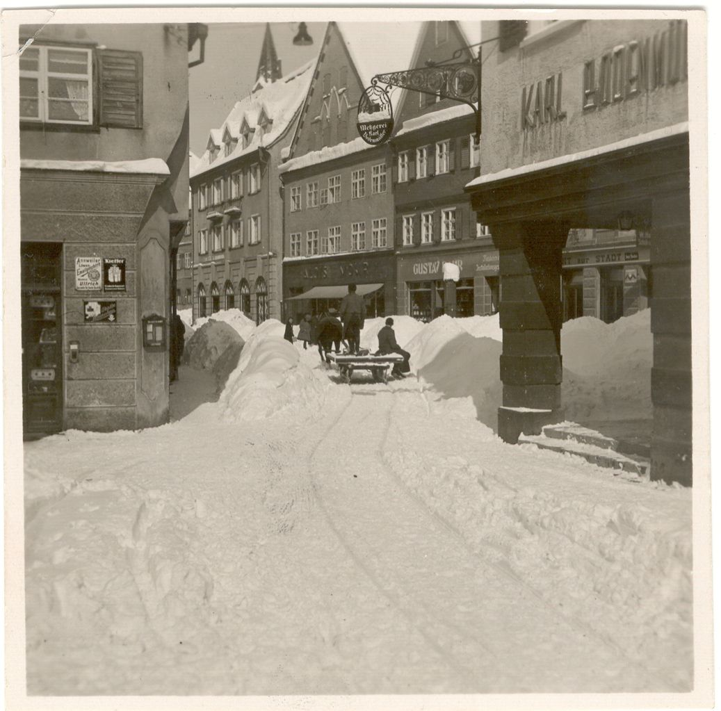 Marktstraße im Winter 1931
