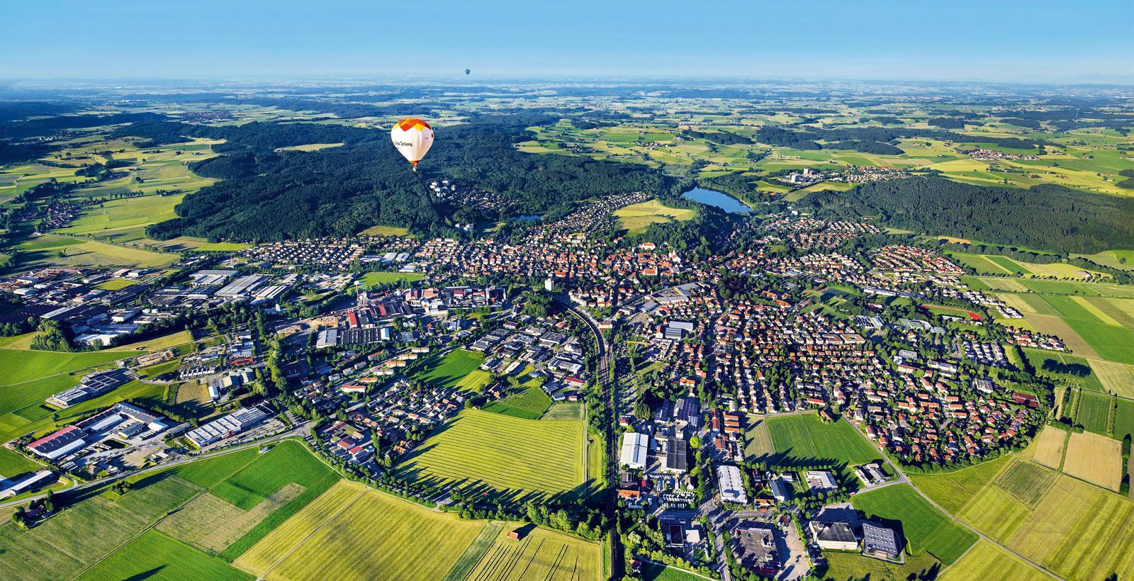 Luftbild Stadt Leutkirch