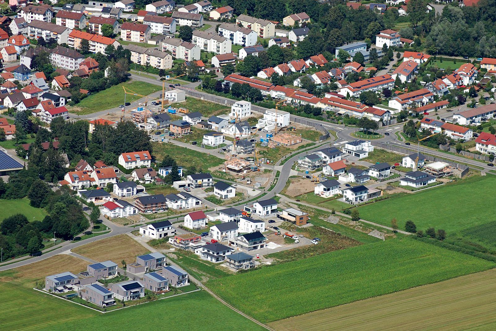 """Baugebiet """"Beim Marienhof"""" (Stand August 2016)"""