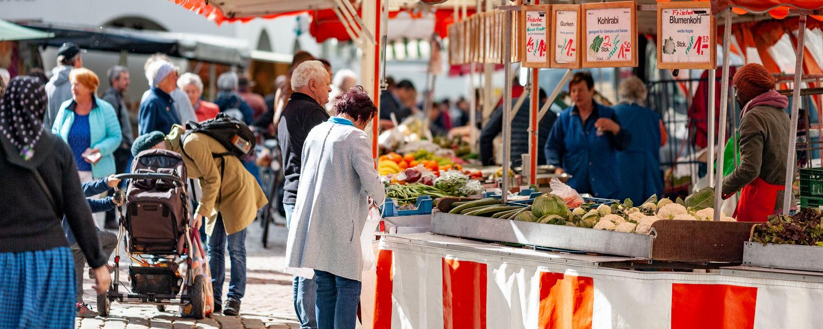 Wochenmarkt in Leutkirch