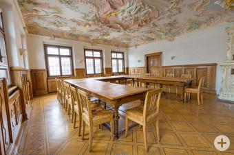 Historischer Sitzungssaal im Leutkircher Rathaus