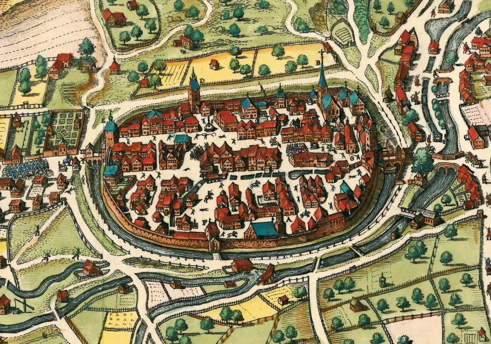 Stadtansicht von Merian 1643