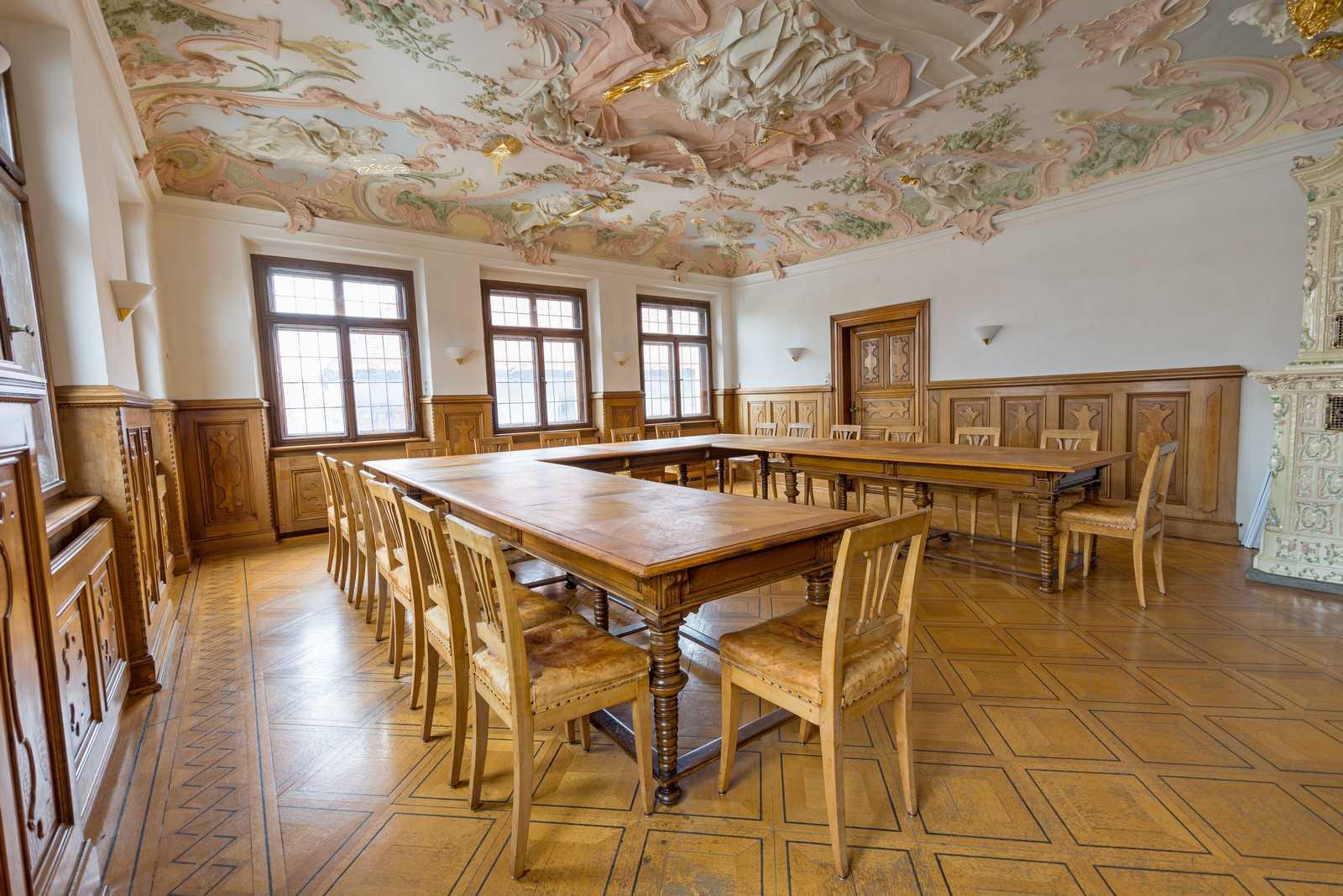 Historischer Sitzungssaal im Rathaus Leutkirch
