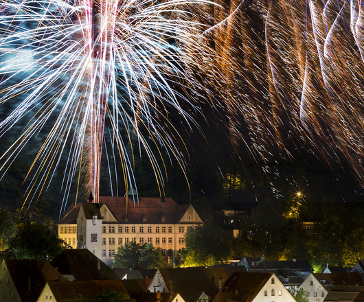 Das Feuerwerk beim Altstadtsommerfestival.