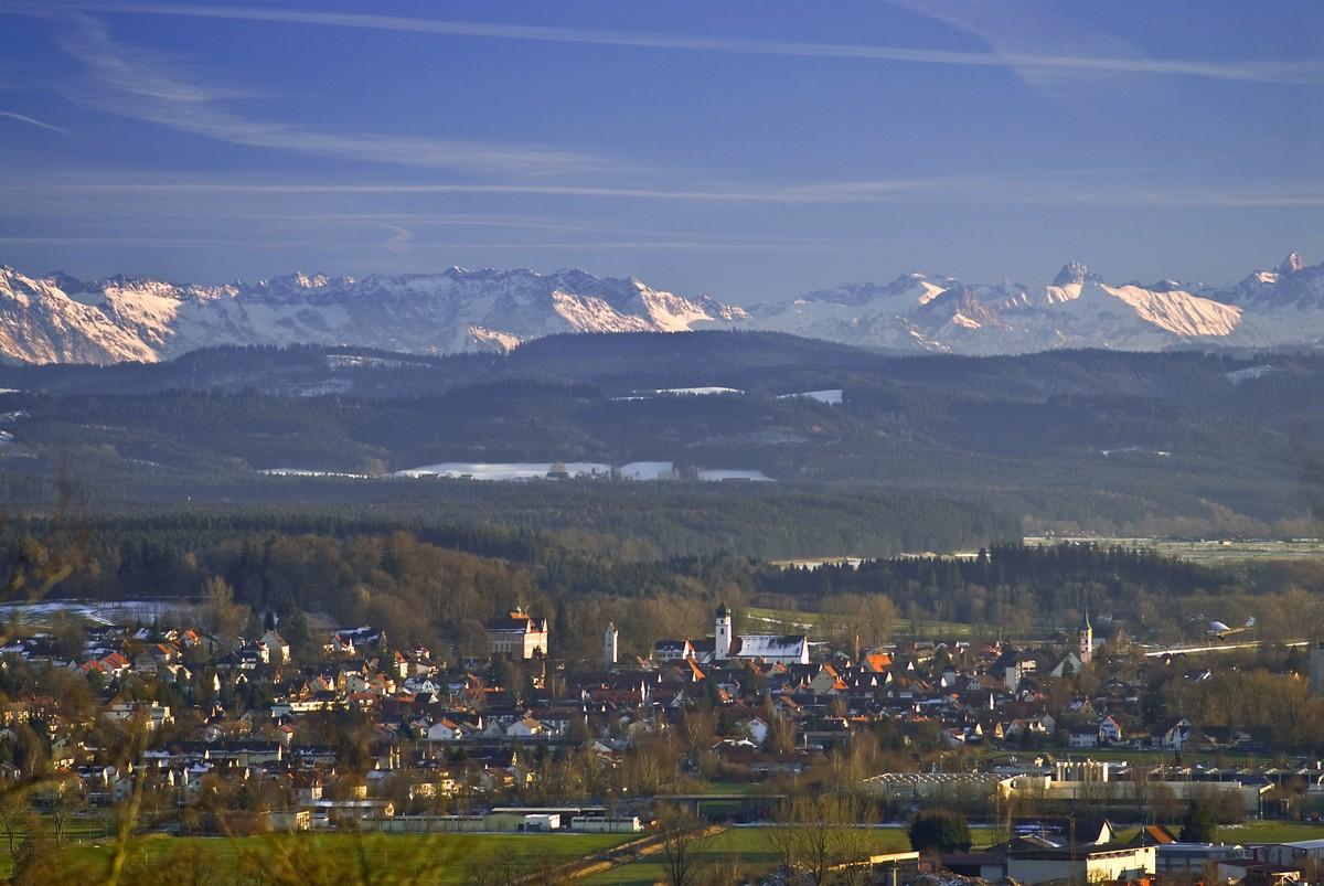 Leutkirch mit Alpenpanorama