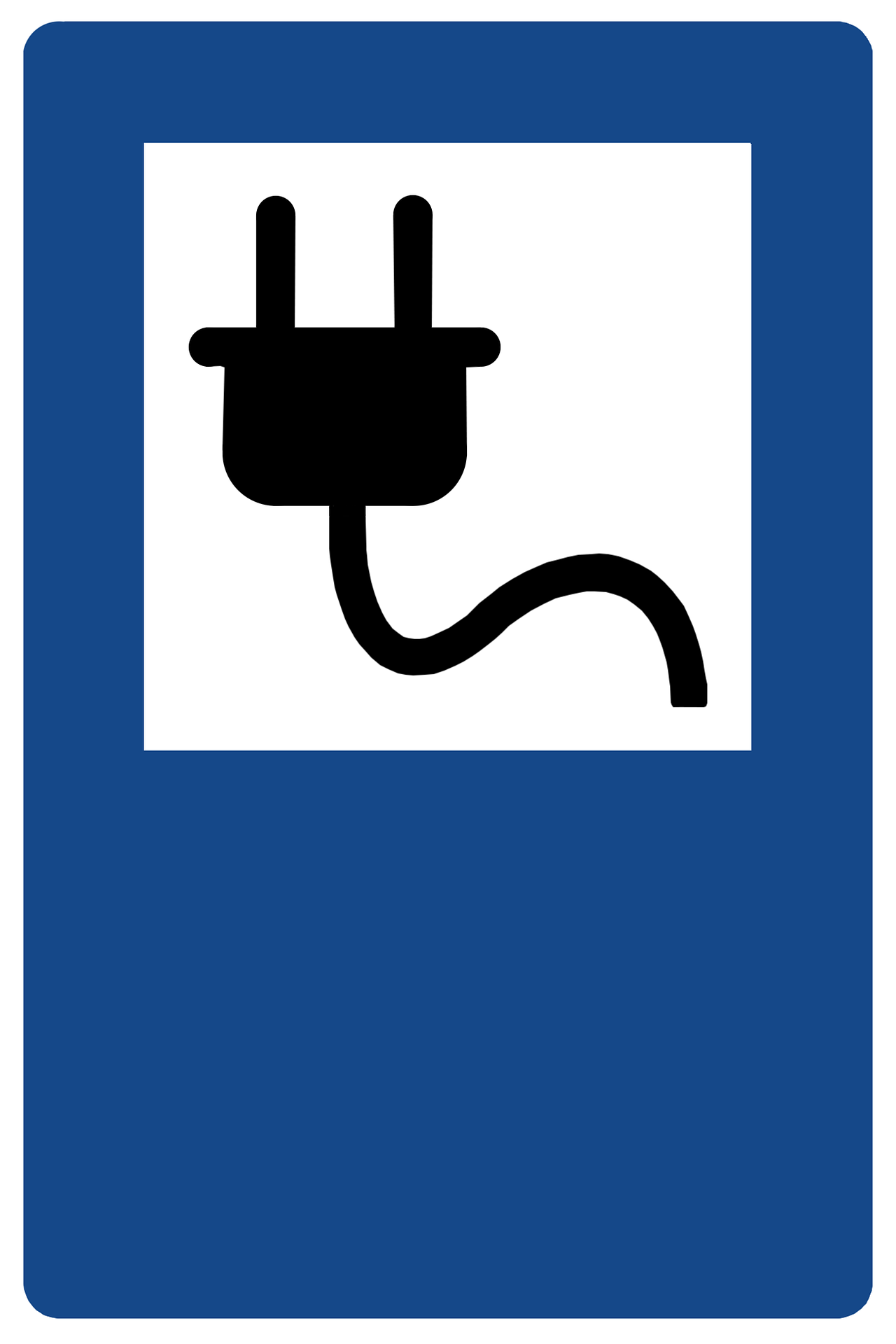 Hinweisschild für eine E-Tankstelle