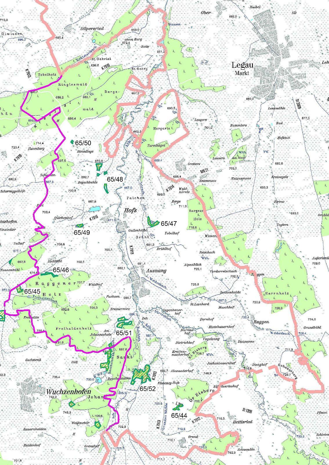 Karte Naturdenkmale Hofs