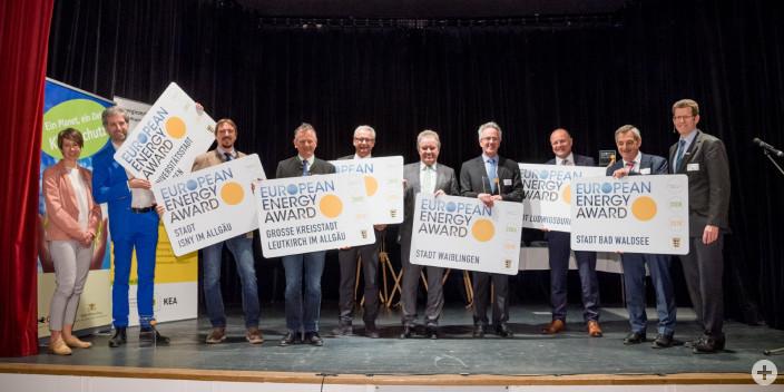 "Alle ""Gold-Preisträger"" - Verleihung des European Energy Awards am Montag, 18. Februar 2019 in Tübingen."