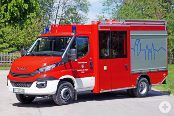 Das neue Feuerwehrfahrzeug der Löschgruppe Urlau.