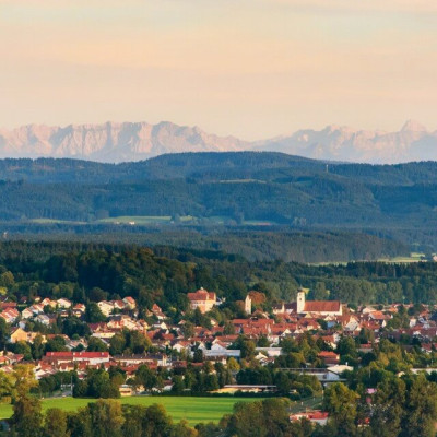 Ausblick von Schloss Zeil auf Leutkirch