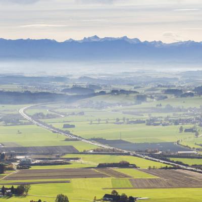 Luftbild Autobahn A96