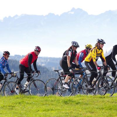 Radfahrer im Allgäu