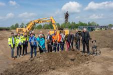 Erster Spatenstich für das neue Leutkircher Wohnbaugebiet Öschweg II.