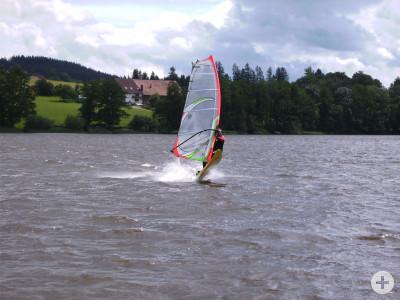 Windsurfen am Badsee