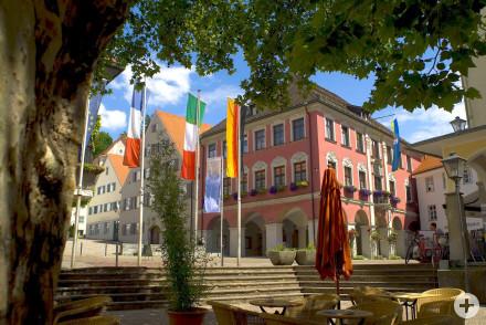 Kornhausplatz mit Rathaus