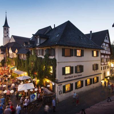 Lebhafter Abend in Leutkirch