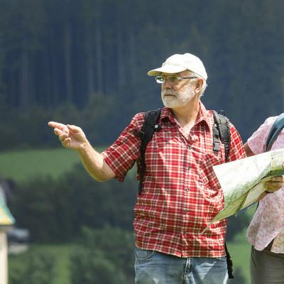 Wanderer in Leutkirch im Allgäu
