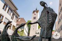 Gänselieselbrunnen in Leutkirch im Allgäu