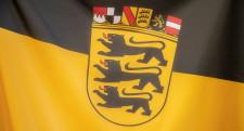 Fahne mit Landeswappen Baden-Württemberg