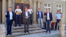 Allgäuer Bürgermeister werben für Corona-App.