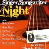 Plakat SingerSongwriter Night