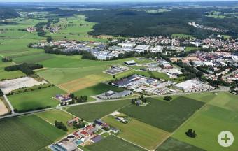 Luftbild Leutkirch Weststadt mit Gewerbegebieten