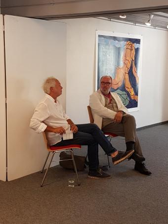 Jo Bukowski (rechts) im Gespräch mit Hartmut Klein (697 KB)
