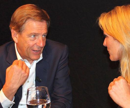 Claus Kleber und Claudia Kleinert beim Talk-im-Bock