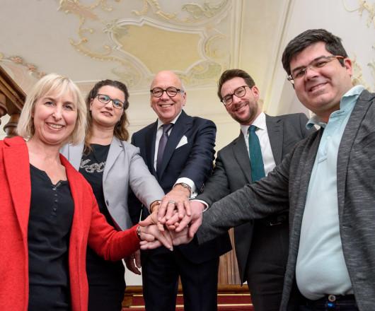(v.l.) Margot Maier, Daniela Heiss, Rudolf Dentler (Vorsitzender), Thomas Zwerger, Oliver Stotz