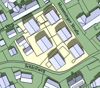 Bebauungsplan Memminger Straße / Schleifweg / Bebauungskonzept