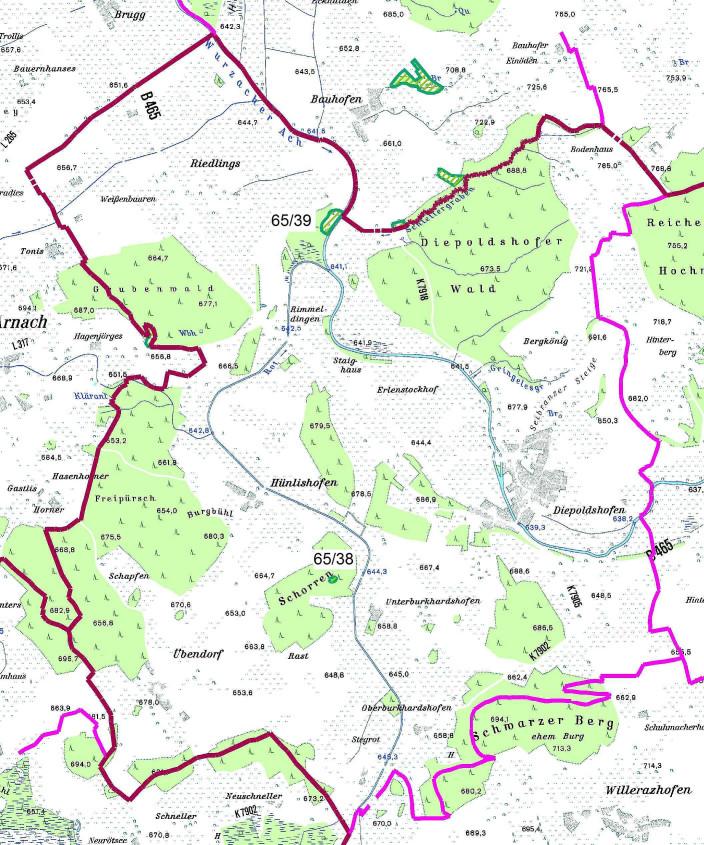 Karte Naturdenkmale Diepoldshofen