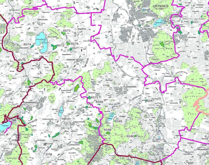 Karte Naturdenkmale Herlazhofen