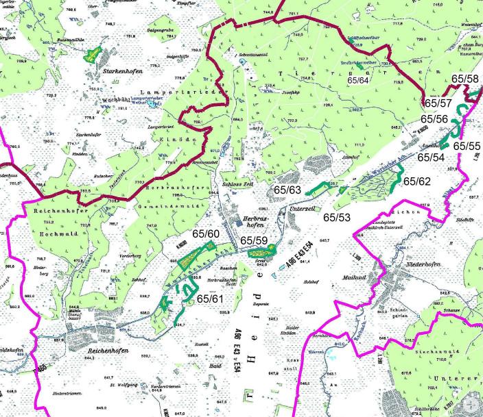 Karte Naturdenkmale Reichenhofen